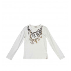 MISS GRANT T-SHIRT CON STAMPA CATENE E CHARMS