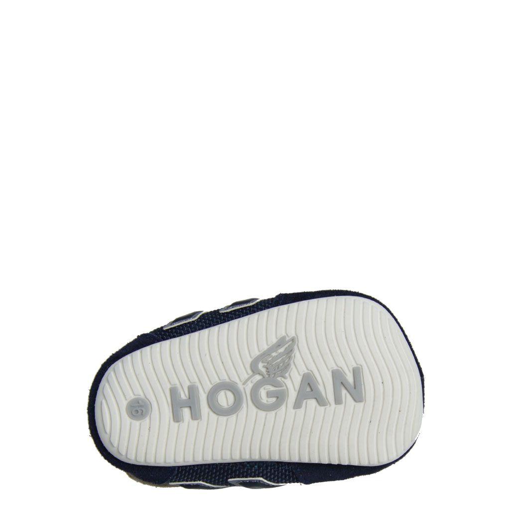 Hogan culla Olympia in pelle scamosciata e tela ...
